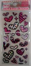 EP046Lovely Heart shape epoxy crystal dots sticker