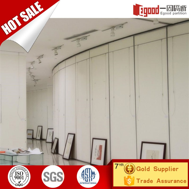 semi permanent room divider acoustic soundproof movable wall partition for mobile galleries museum library