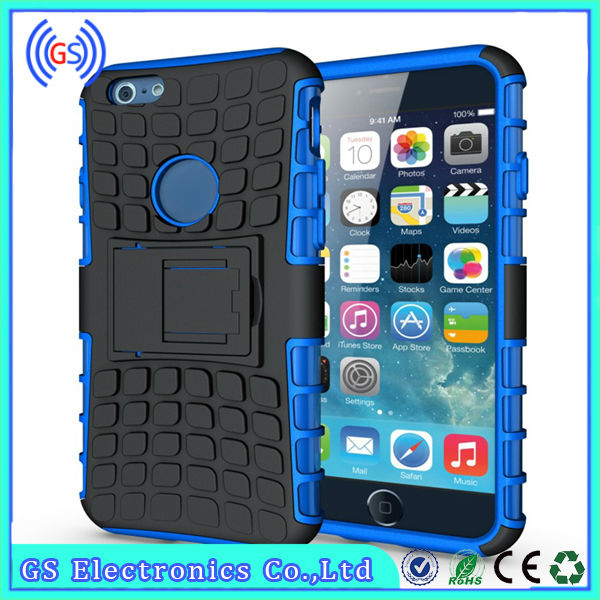 wholesale ebay fancy waterproof hybrid combo black holster case with belt clip for iphone 4 4s with Kickstand