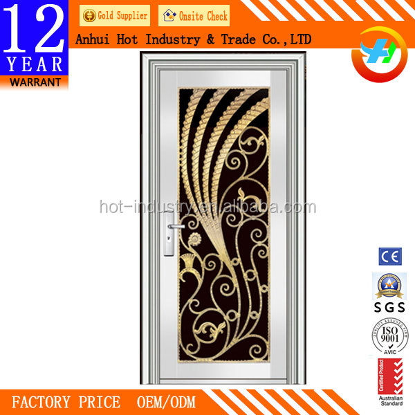 Alibaba china stainless steel storm doors/price of stainless steel door frame