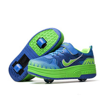Two Wheels Men Roller Shoes Land Retractable Roller Skate Shoes For Kids One Button Retractable Wheel Roller Sneakers