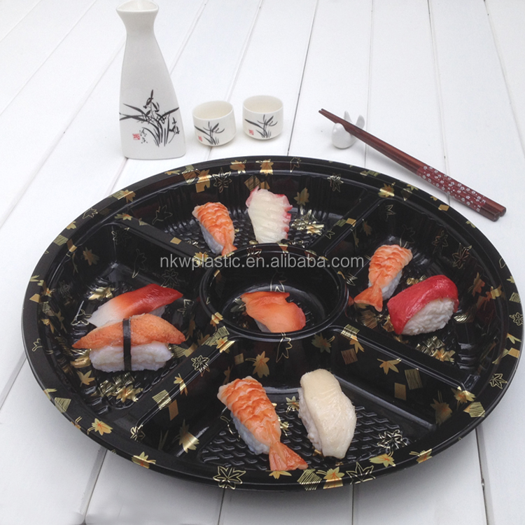 2015 Hot selling sushi plastic container in packing boxes with factory price