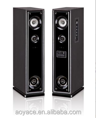 Black Speaker with bluetooth 2.0 active tower subwoofer