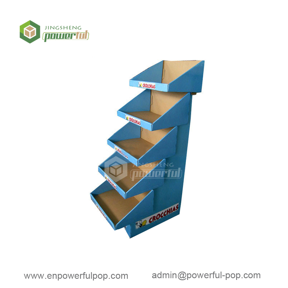 retail fruit & vegetable snacks merchandising corrugated cardboard floor pallet display stand