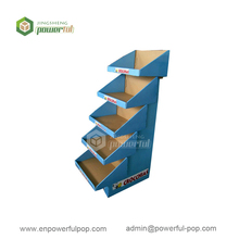 retail fruit & vegetable snacks merchandising corrugated cardboard POS PDQ tray stacker floor pallet display stand