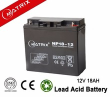 Sealed lead acid 12v 18Ah ups battery