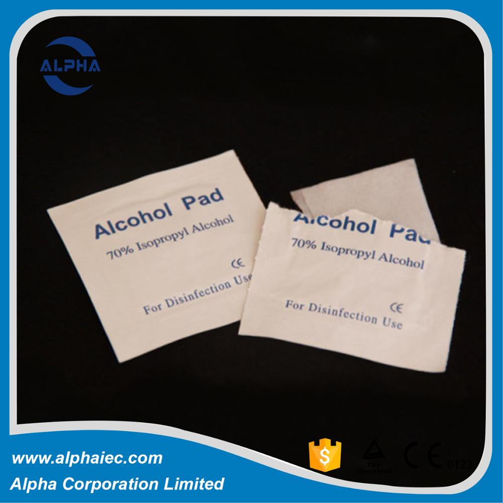 china top 10 brand supply nonwoven sterile alcohol swab pad