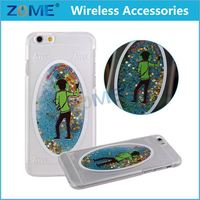 China Mobile Phone Accessories Transparent 3D Hard Pc Glitter Moving Quicksand Star Liquid Phone Cases