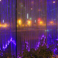 illuminated fiber optic curtain with high standard quality