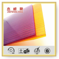 Plastic Roofing Sheet Polycarbonate Hollow Sheet For Greenhouses