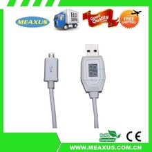 Universal smart micro usb cable for Android charging data cable with current display