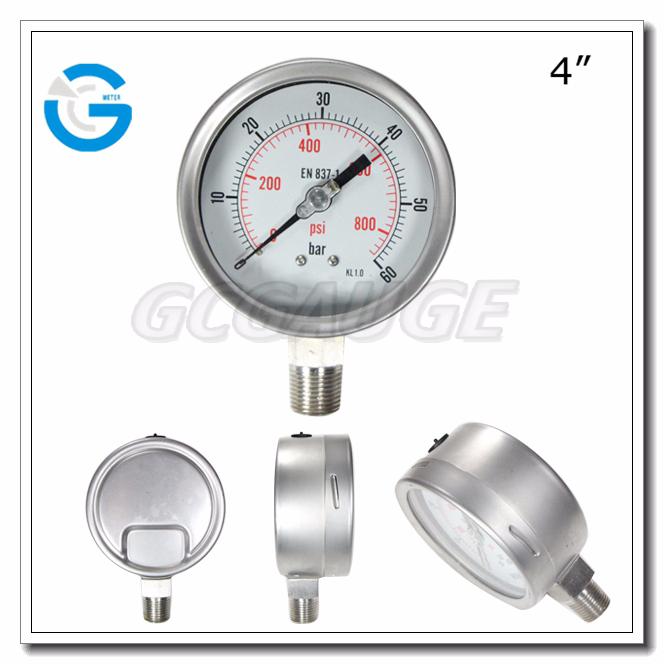 High quality stainless steel bourdon tube type iso certified pressure gauge