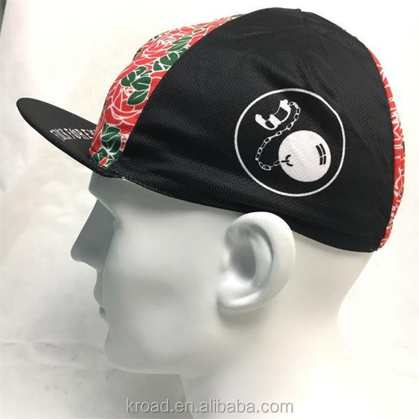 100% Polyester sublimation printed cycling custom hat and cap