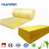 Huamei CE standard soundproof roof insulation fiber glass wool blanket and board