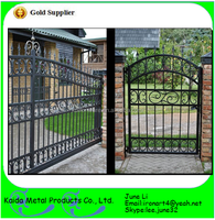 decorative morden wrought metal forged iron farm electric fence/gate design