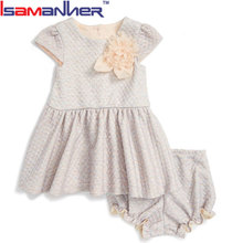 OEM service 1-6 years old birthday dress for baby girl