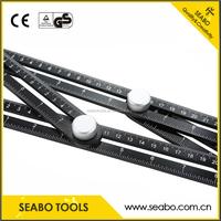 Angleizer Template Tool,Angle Measure Ruler,Multi Angleizer Template Ruler for Builders or Engineer,Black