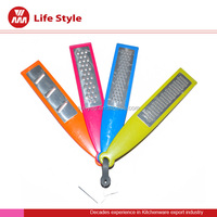 colorful 4 pcs different fuctions fruit/vegetable/cheese stainless steel kitchen grater with pp handle