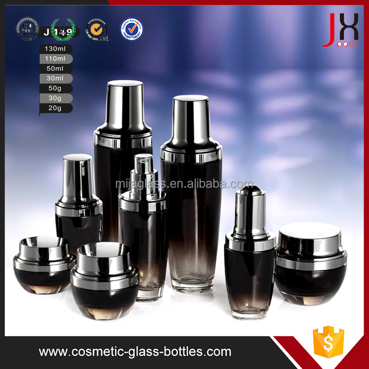 30ml 100ml 120ml Cosmetic Cream Glass Bottle And Jar 30ml Glass Serum Bottle For Cosmetics Packaging