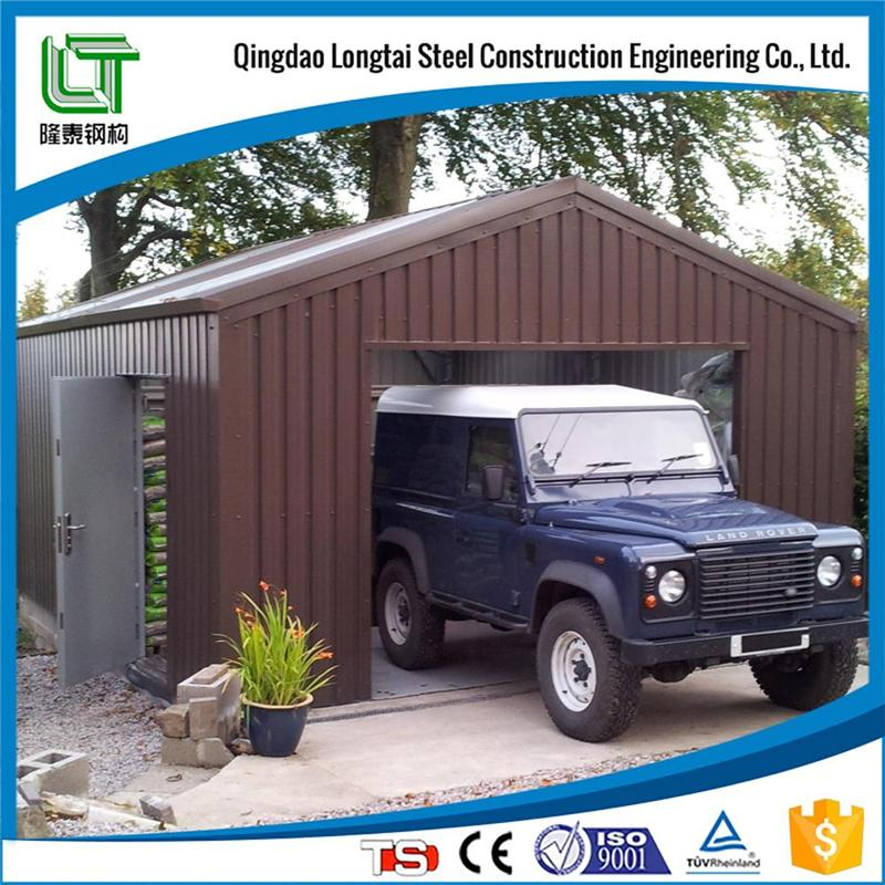 prefabricated steel frame car shed