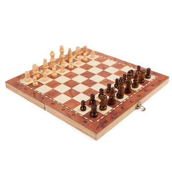 Folding Wooden Chess Set 2 In 1 Folding Chess Board Manufacturer