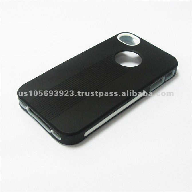 White/Black Premium TPU Cover Case For Apple Iphone 4G 4 4S 4GS