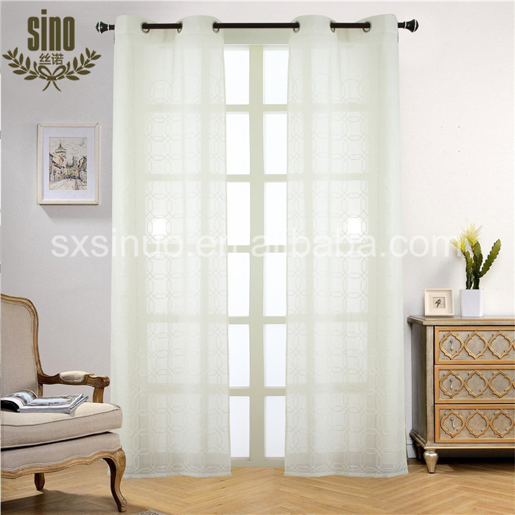 Wholesale high quality sheer voile curtain