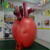 Decorative Vividly PVC Air Blowed Heart Replica / Floating Giant Advertisng Heart Balloon Display