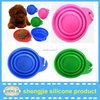 2015new big silicone pet travel bowl in Dia180mm can foldable