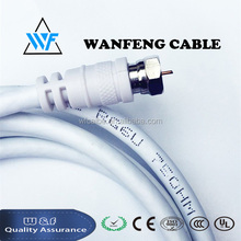 Low loss RG6 coaxial cable with F connector for satellite system