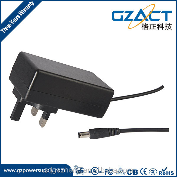 Wall mounted 12v 2a Ac Dc 24w Power Adapter with TUV, CE, UL, ROHS approval