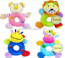 soft baby rattle squeaky toy plush infant toy