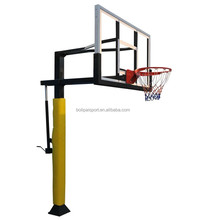 Ultimate Adjustable In-Ground Basketball Post /System with glass tempered Backboard