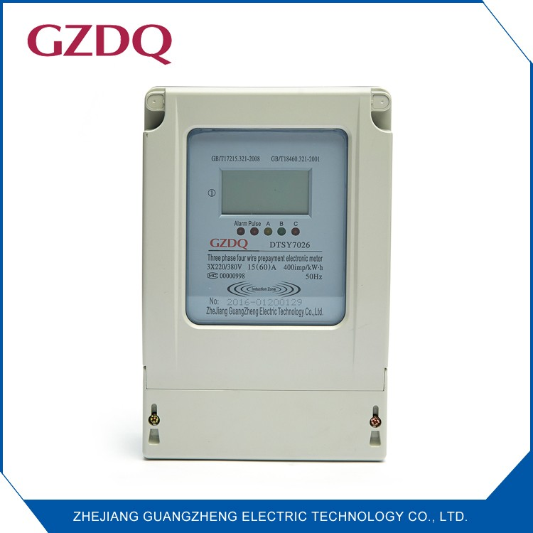 China manufacturers three phase LCD digital electronic prepaid electricity meter