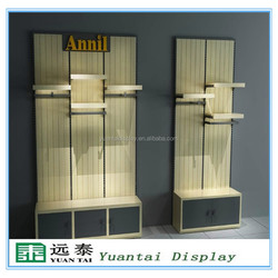 High quality retail shop wood showroom cloth display furniture