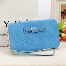 Luxury PU leather Cheap Slim waterproof Cell Phone Purse wallet bag For Women