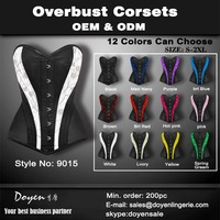 Guangdong elegant steel boned bodysuit adult latex waist trainers cincher sexy mature leather corset