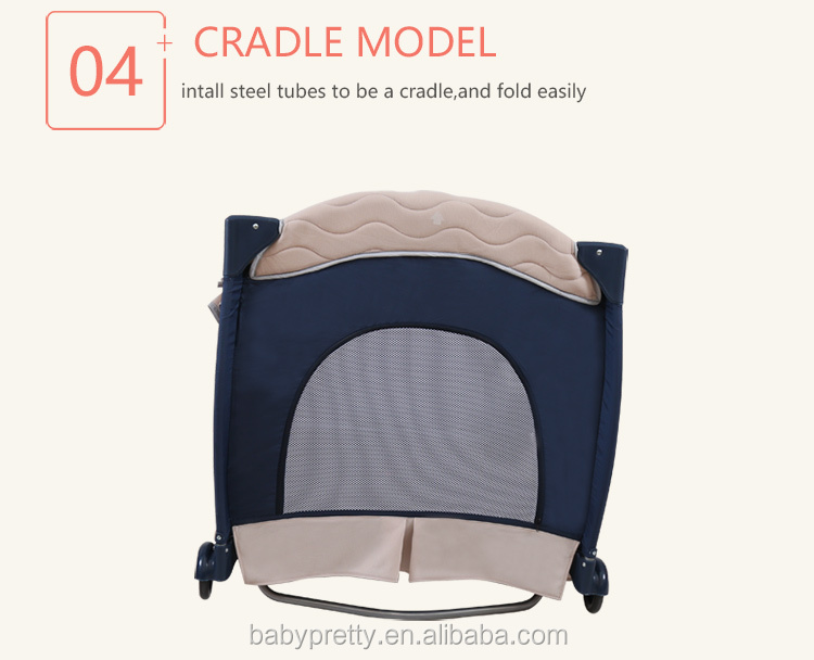 Multi function baby playpen hot selling baby crib folding baby bed