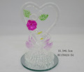 Wholesale high quality swan heart shape beautiful wedding gifts