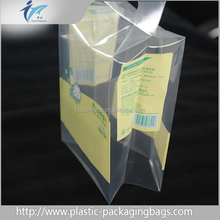 Custom Dimension Plastic Flat Bottom Box Pouch Stand Up Pouch For Food Packaging with side gusset