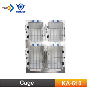 KA-510 Waterproof Fiberglass Modular Cage Round Cornered Pet Dog Cages Kennel