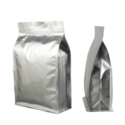 Quad Sealed Aluminum Foil Custom Printing coffee package bag,Flat Bottom coffee bag with valve,food grade packaging bag for food