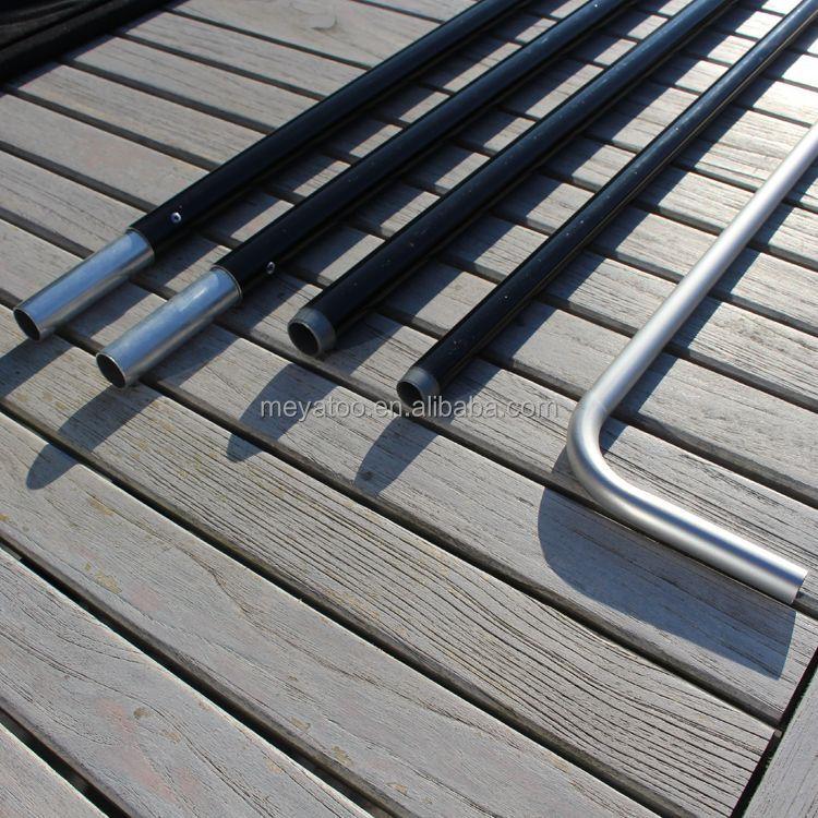 outdoor flag pole base flexible telescopic feather flag pole for sale