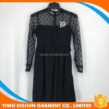 Ladies new arrival long lace sexy black party dress