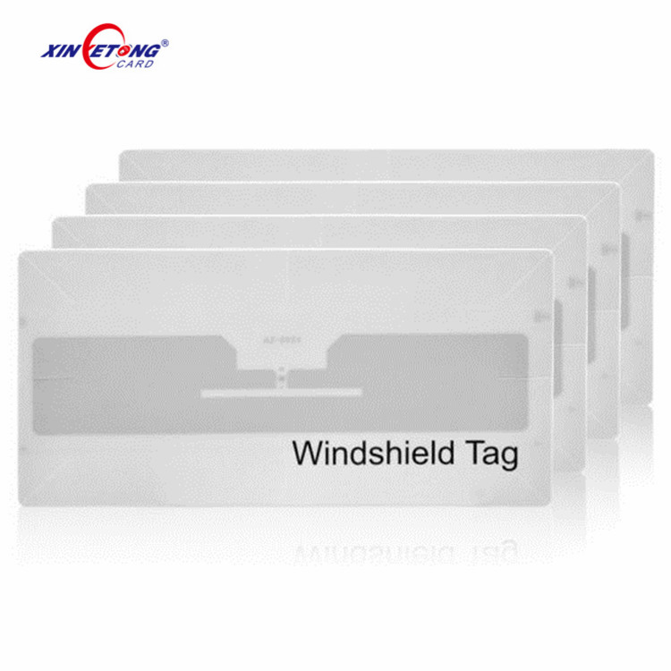 Customized 860-960Mhz Alien H3 RFID UHF logo/barcode label sticker Windshield Tag