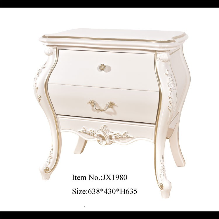 JT1980 High Quality Plastic Bedside Table Royalty European Furniture