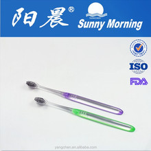 Transparent adult small head toothbrush with green tea bristle for korea market