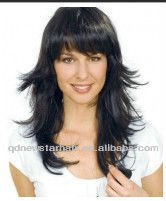 Black Indian Human hair Silk Top Jewish/Koker Wig On sale