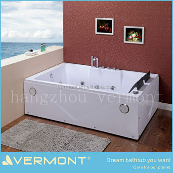 Acrylic massage bathtub 2person hot