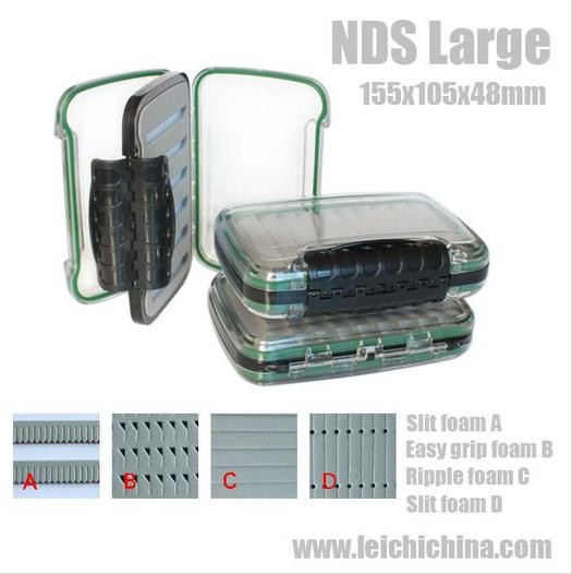 In stock large size NDS slit foam plastic fly fishing box